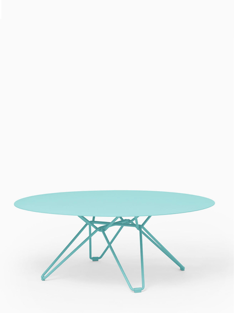Tio Coffee Table – Pastel Turquoise – Ø100