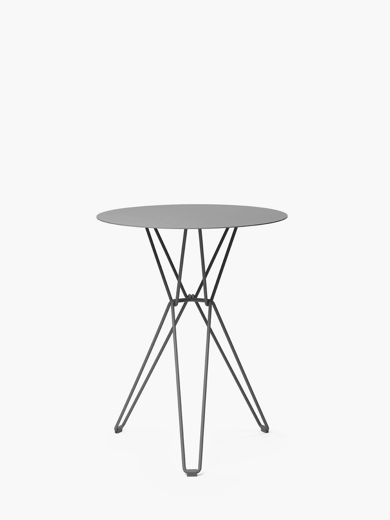 Tio Bar Table – Stone Grey – Ø75