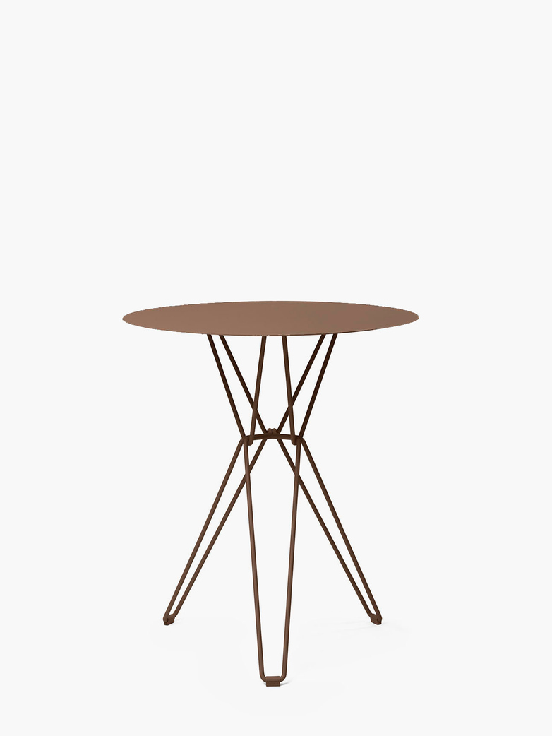 Tio Bar Table – Pale Brown – Ø75