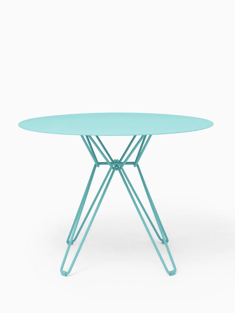 Tio Dining Table – Pastel Turquoise – Ø126