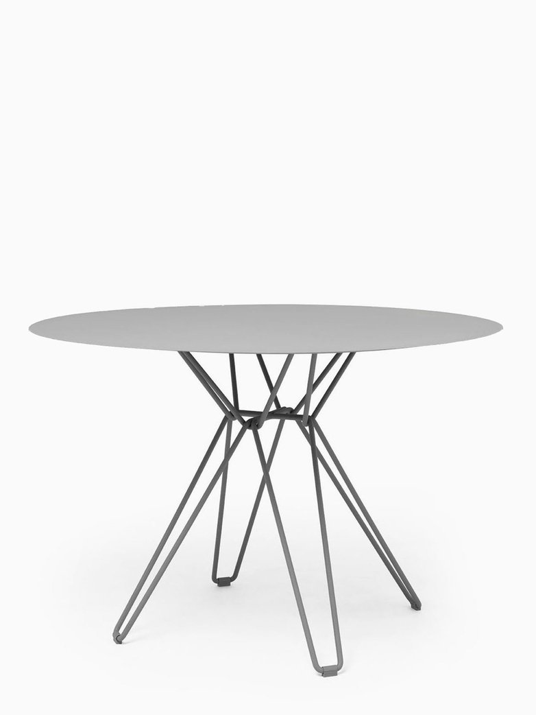 Tio Dining Table – Stone Grey – Ø126