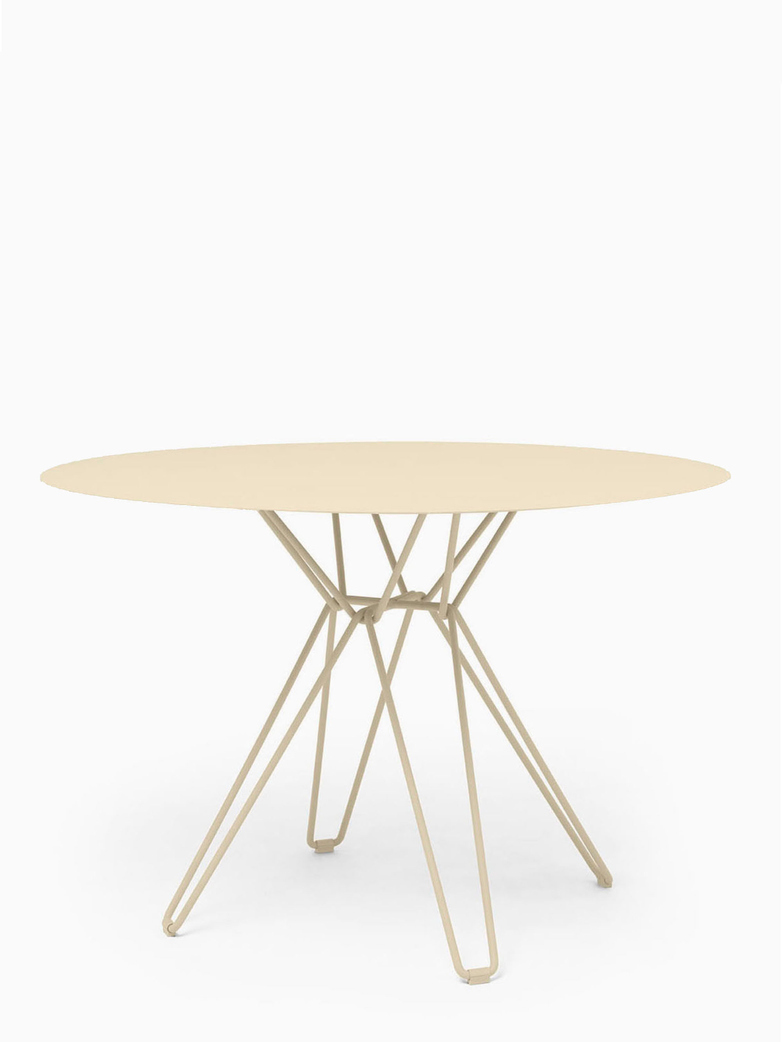 Tio Dining Table – Ivory – Ø126