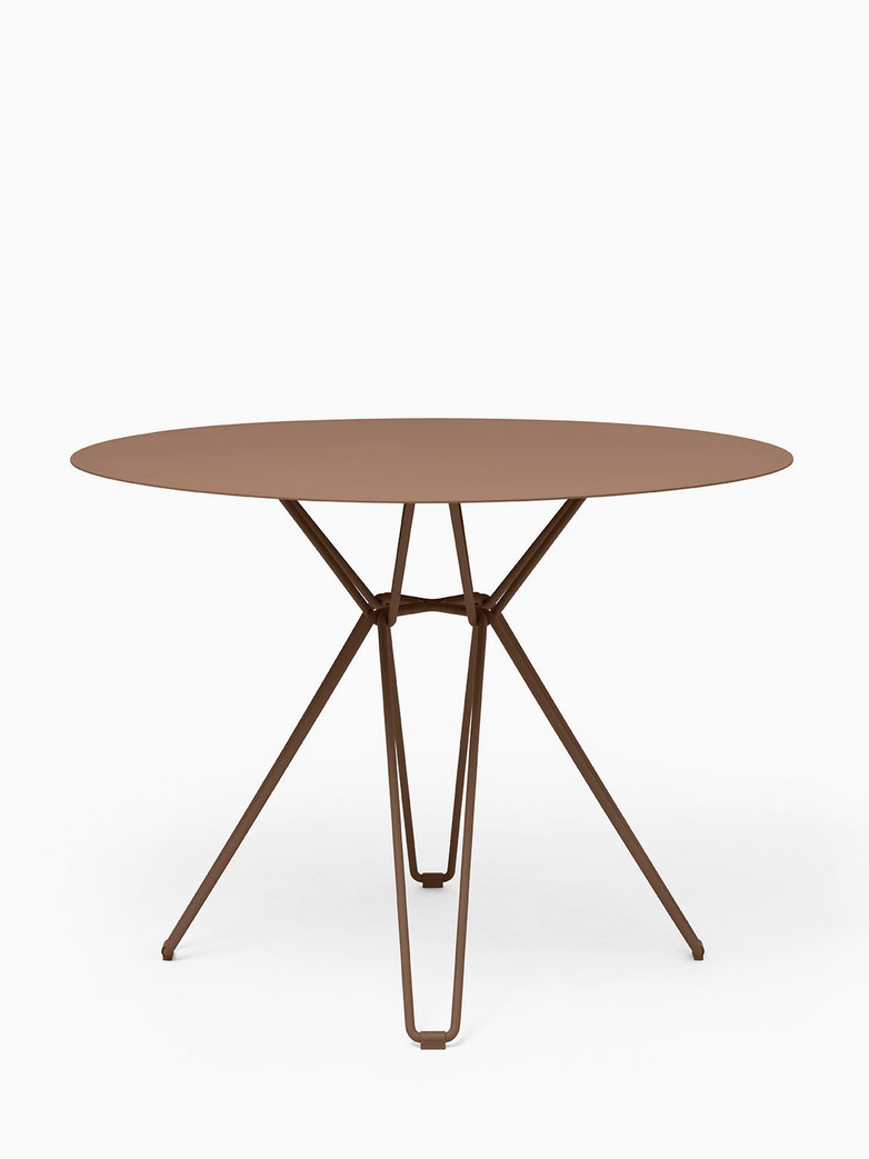 Tio Dining Table – Pale Brown – Ø126