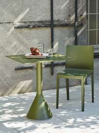 Palissade Cone Table – Olive Green – 65 x 65