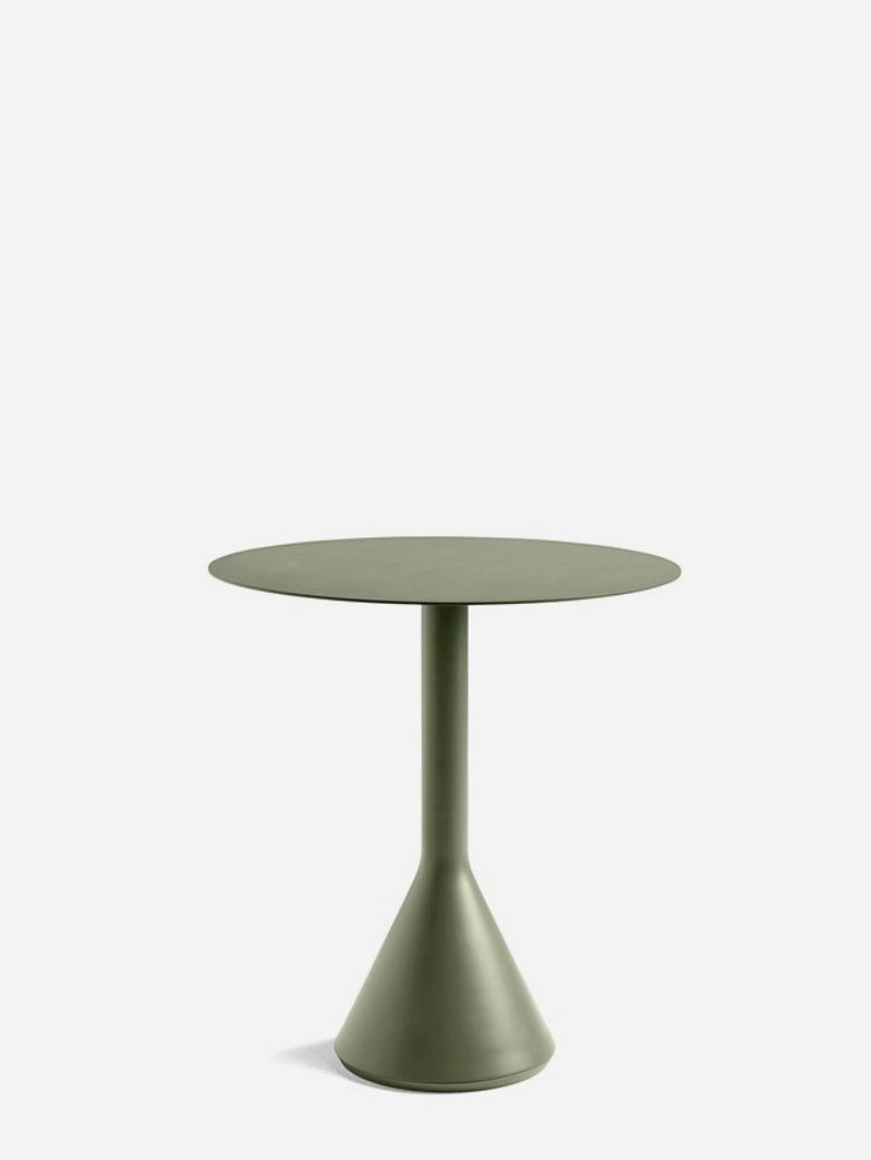 Palissade Cone Table – Olive Green – Ø70