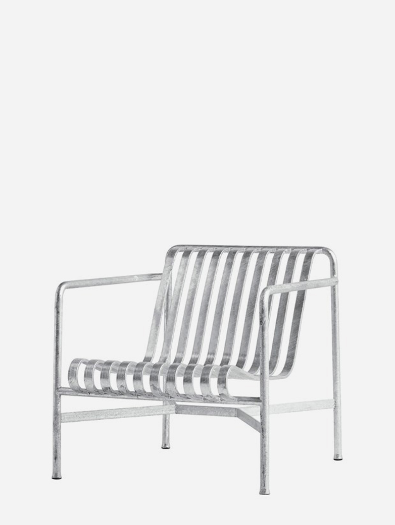 Palissade Lounge Chair Low - Galvanized