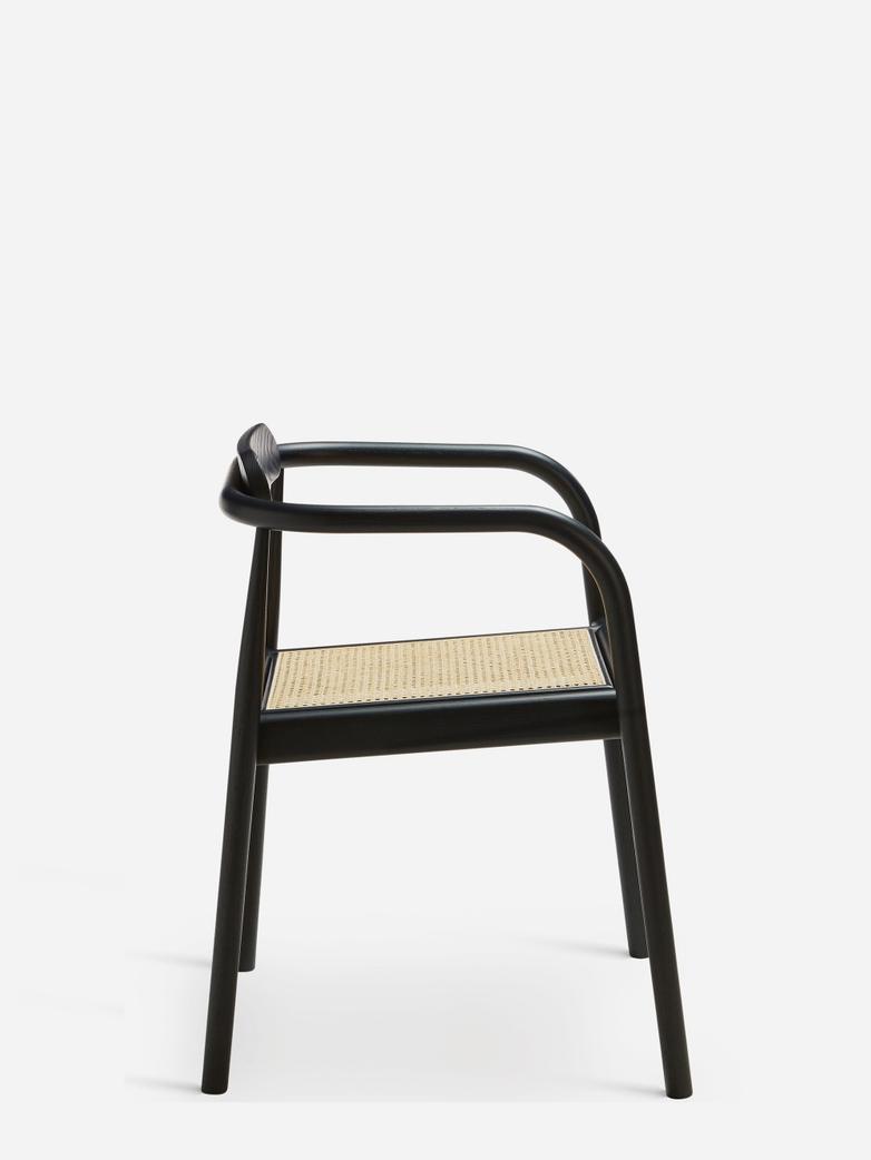 AHM Chair – Black / Cane