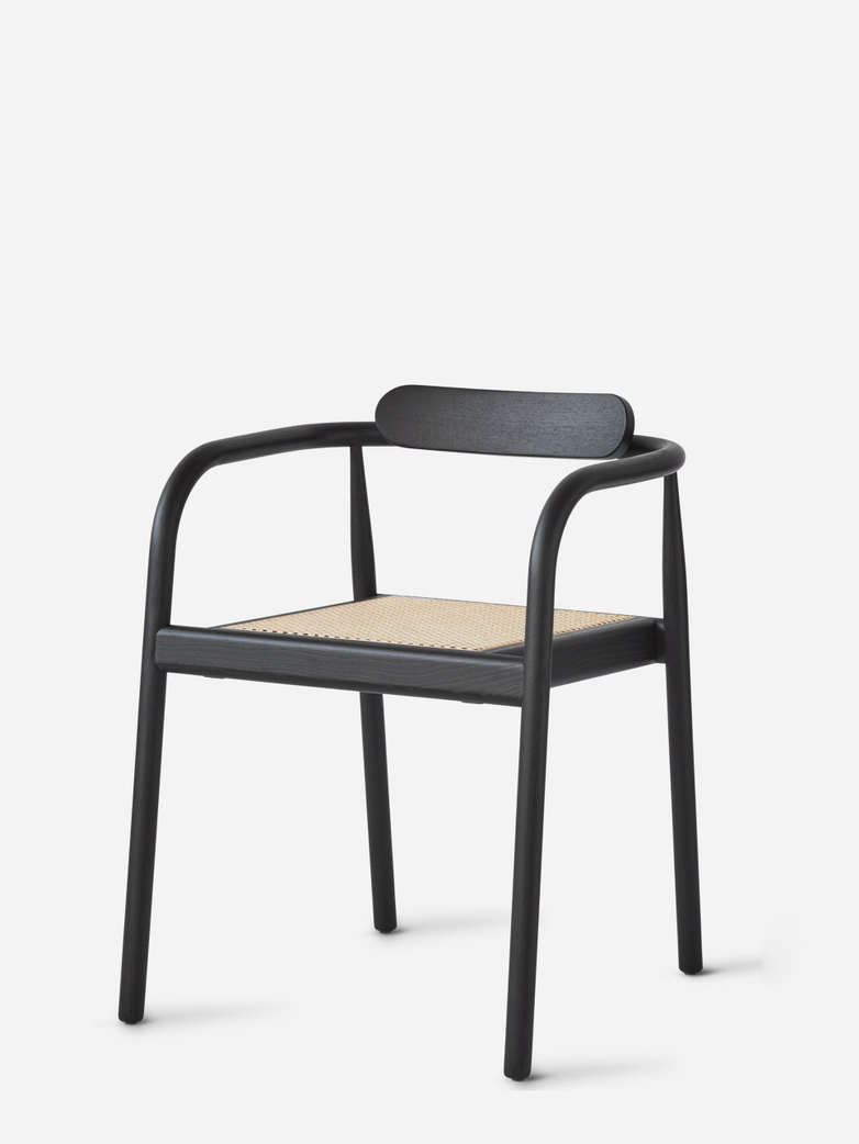 AHM Chair – Black / Cane