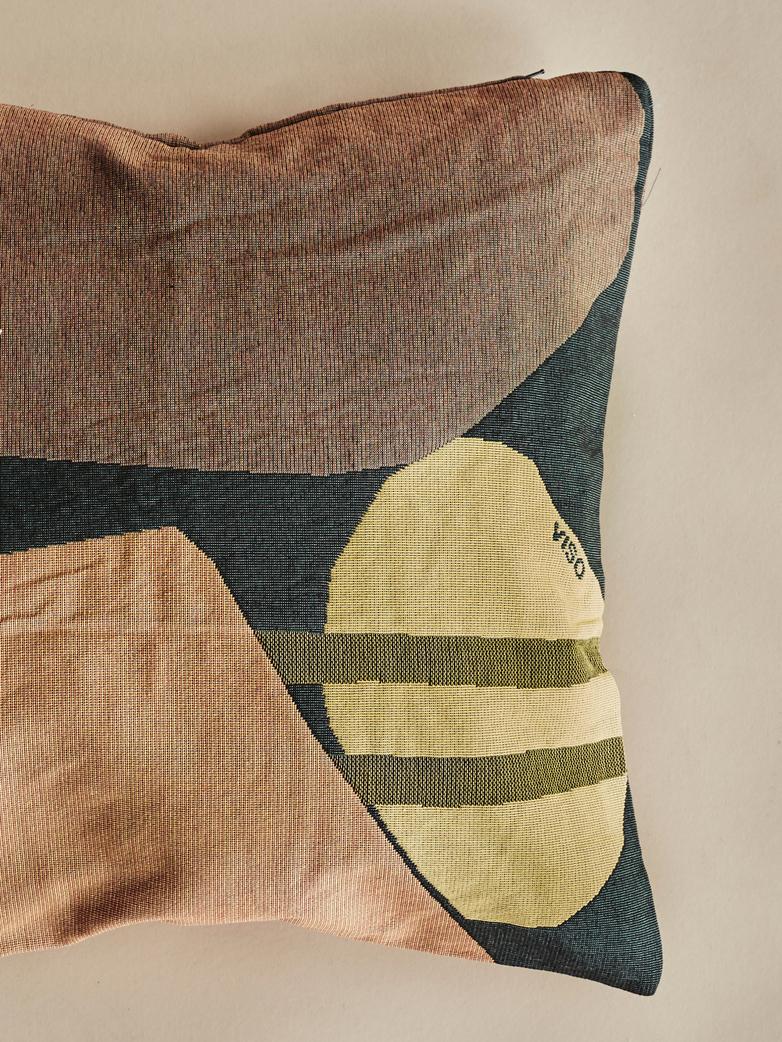 Tapestry Pillow – Black/Orange