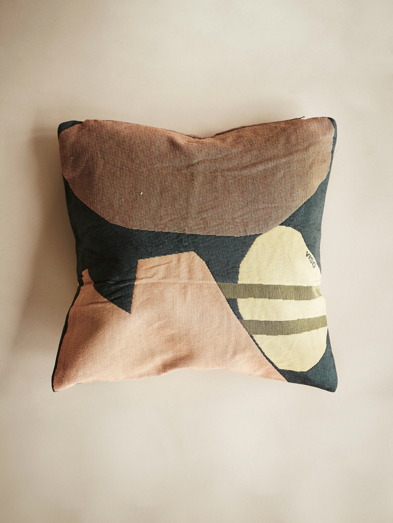 Tapestry Pillow – Black/Orange