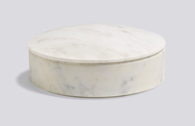 Lens Box White Marble - Medium