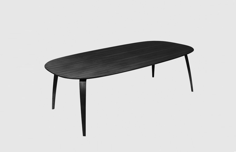 Ellipse Dining Table – Black Stained Ash – 120x230