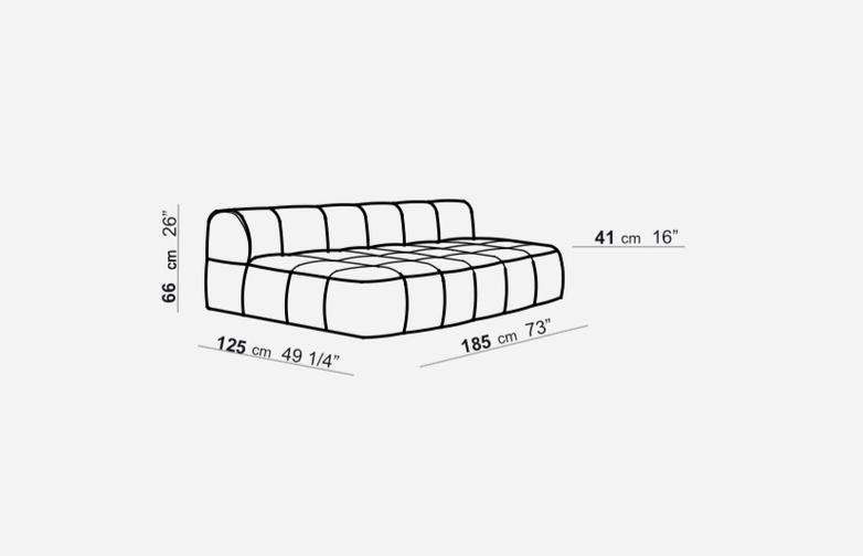 Element without Armrest - 125 x 185 - T4