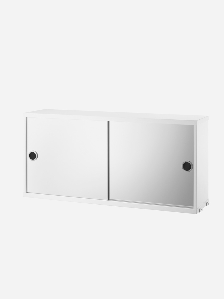 Cabinet With Mirror Doors – White