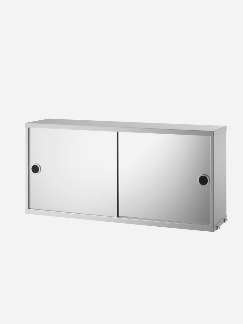 Cabinet With Mirror Doors – Grey