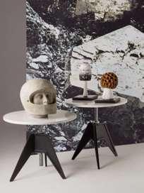 Screw Café Table – Ø60 – White Marble
