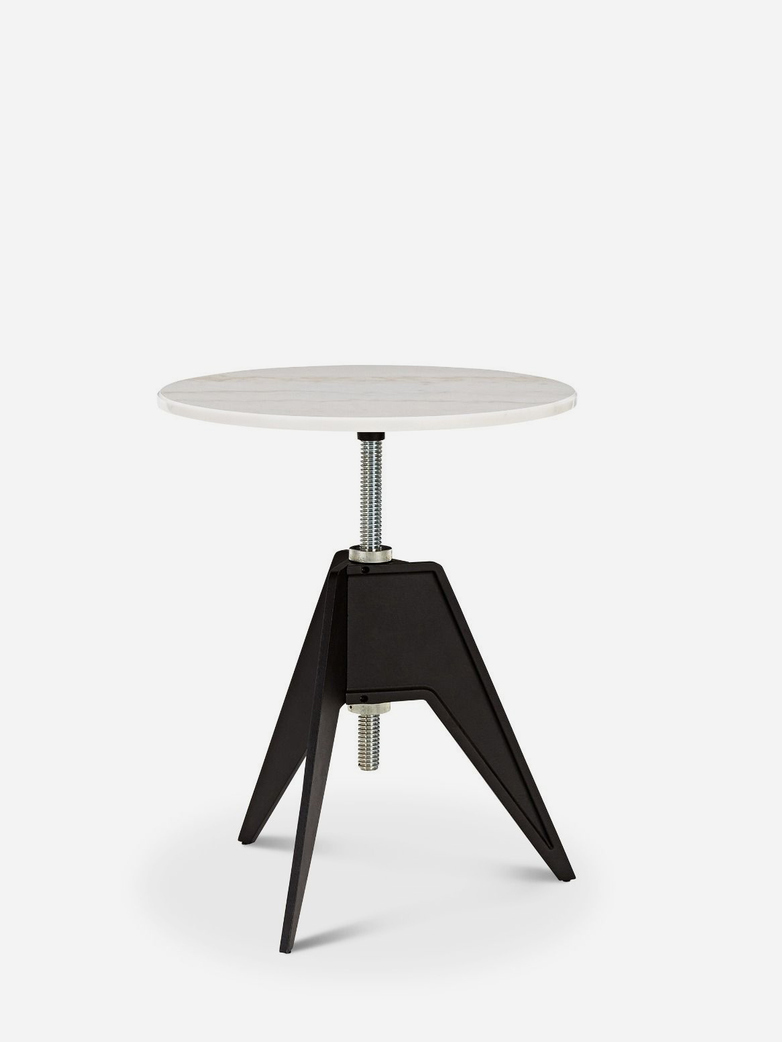 Screw Café Table – Ø60 – White Marble