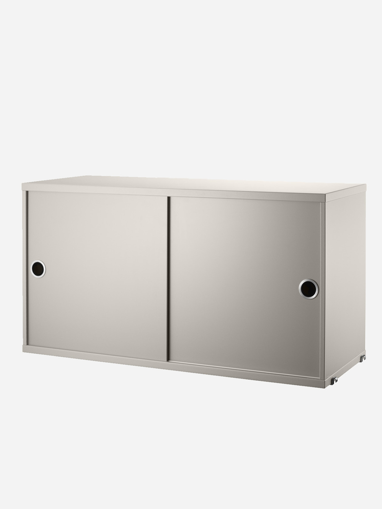 Cabinet With Sliding Doors – Beige