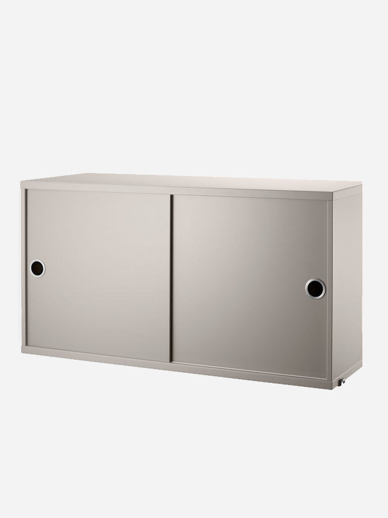 Cabinet With Sliding Doors – Beige