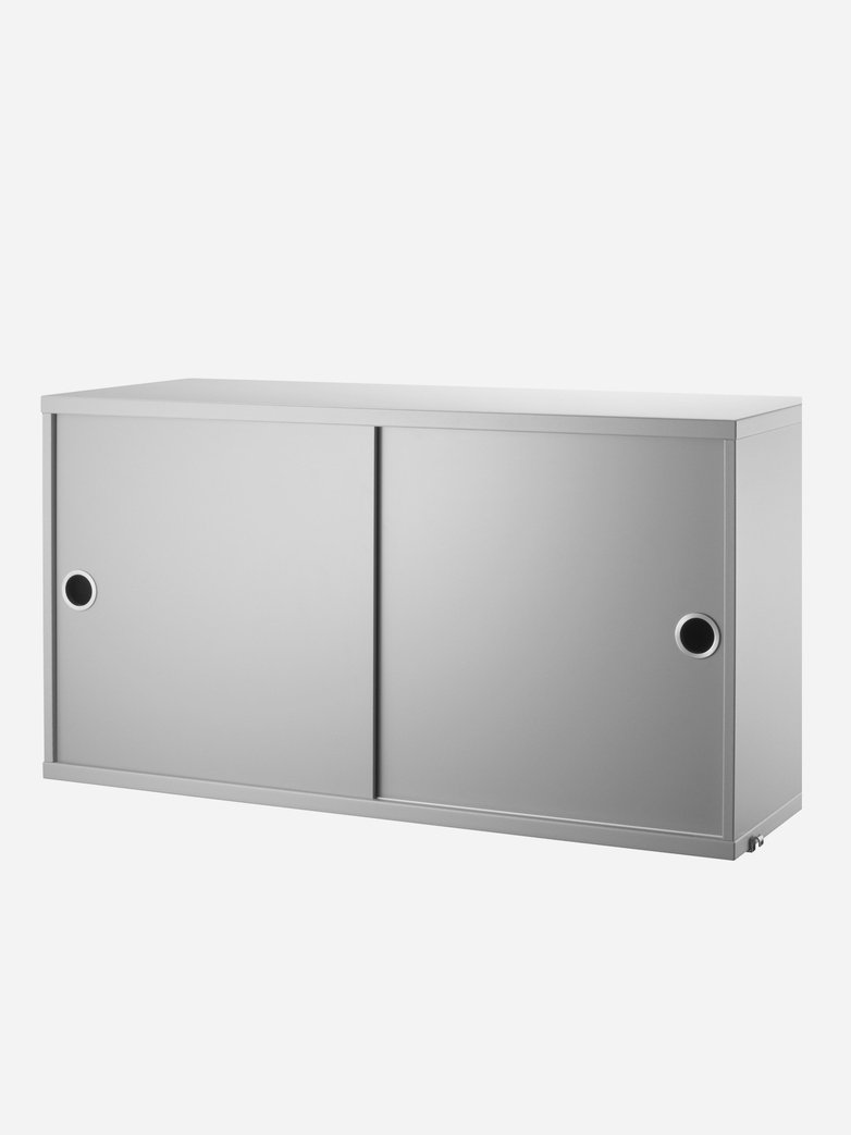 Cabinet With Sliding Doors – Grey