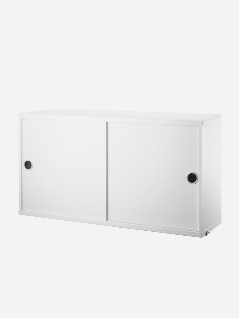 Cabinet With Sliding Doors – White