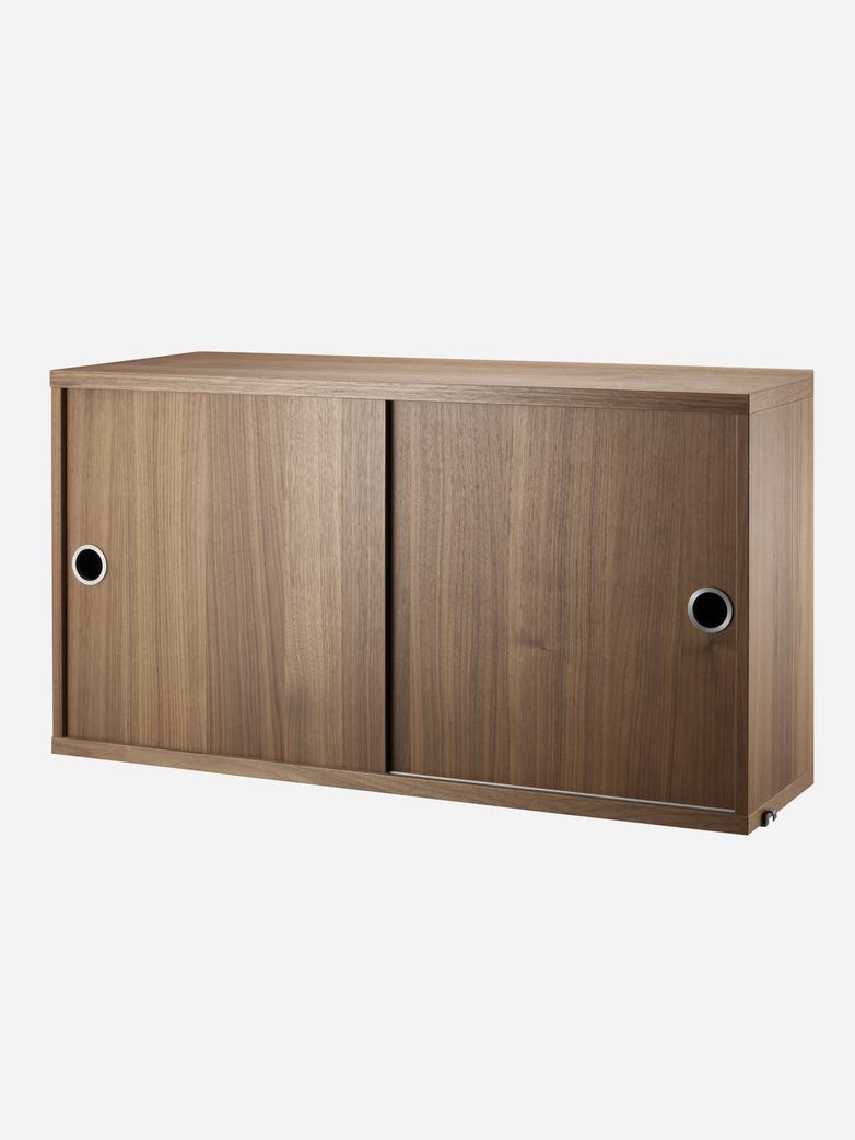 Cabinet With Sliding Doors – Walnut