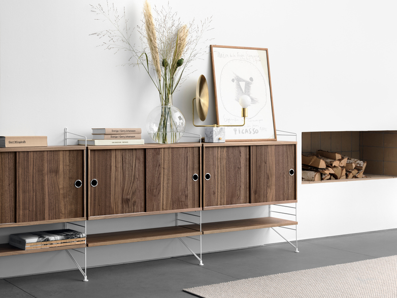 Cabinet With Sliding Doors – Walnut