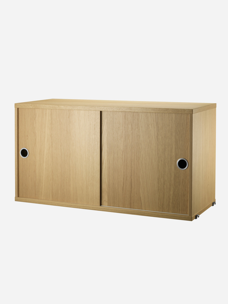 Cabinet With Sliding Doors – Oak