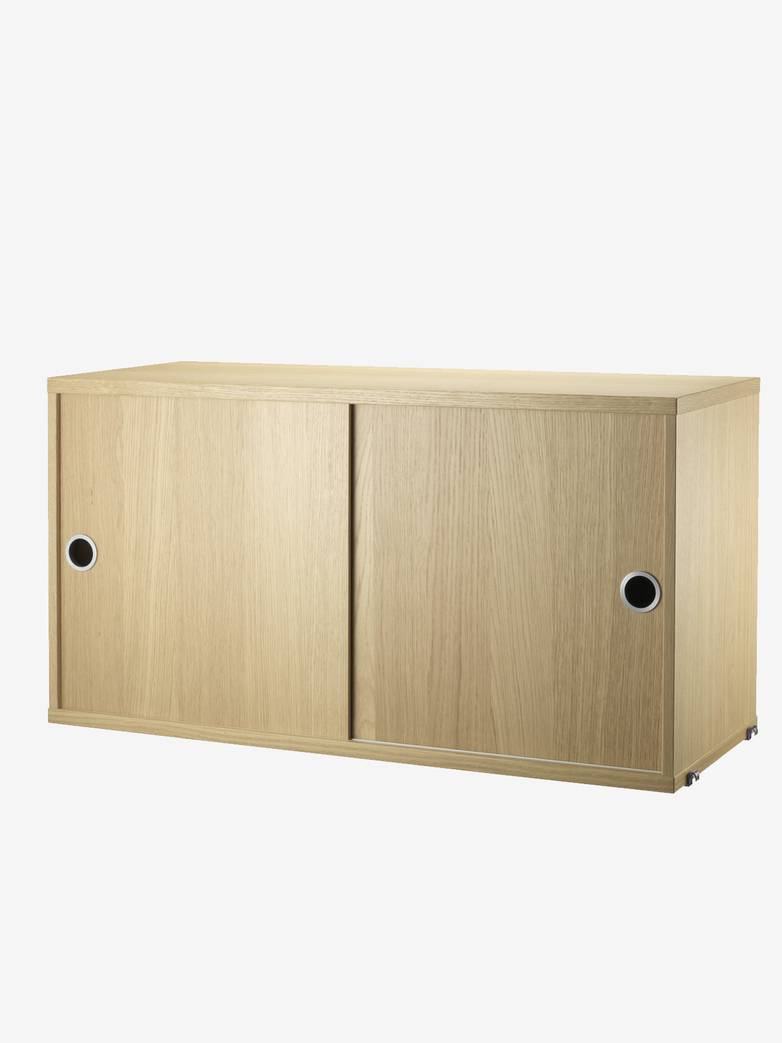Cabinet With Sliding Doors – Oak