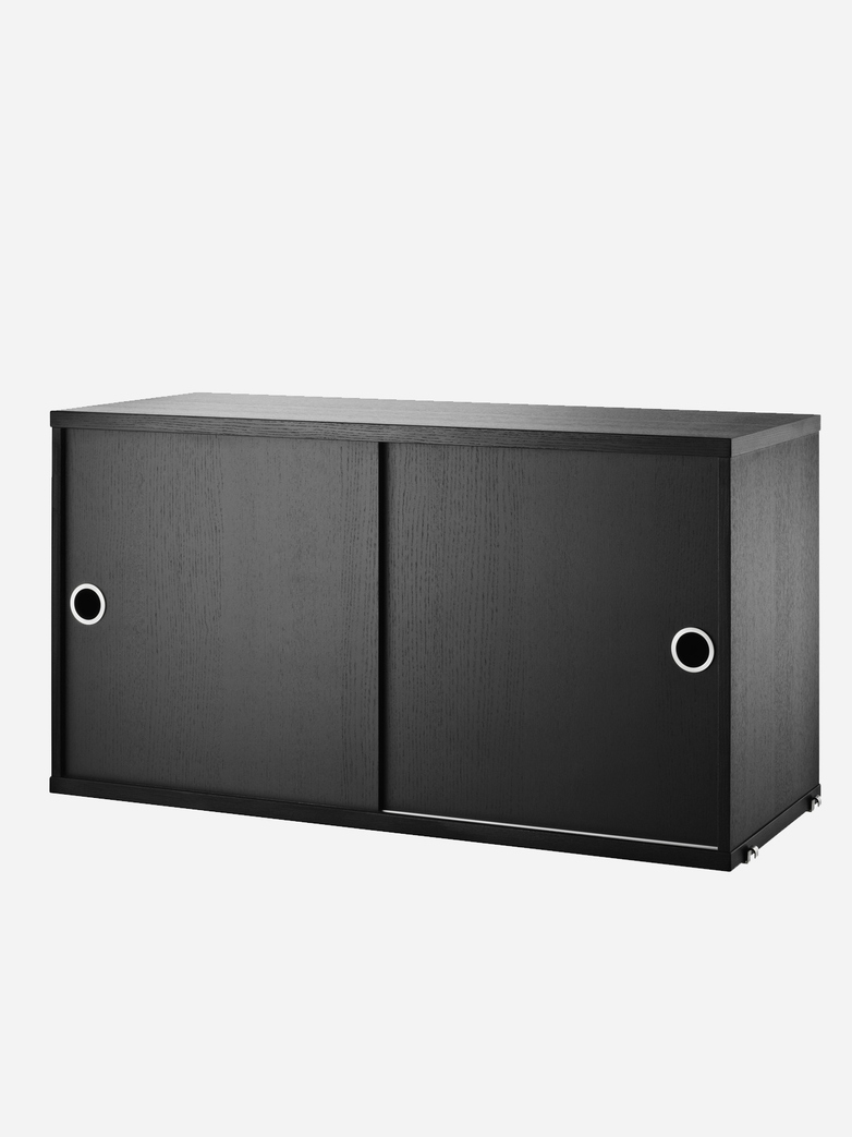 Cabinet With Sliding Doors – Black Stained Ash