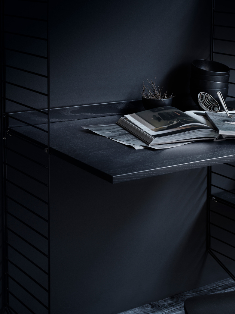 Work Desk – Black Stained Ash