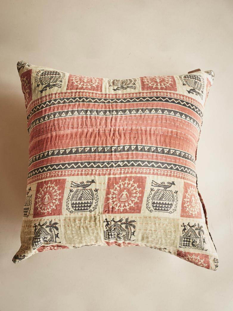 Sari Kantha – Stripe/Square – 65 x 65