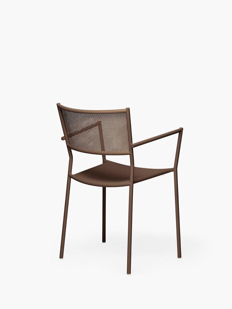 Jig Mesh Armchair – Pale Brown