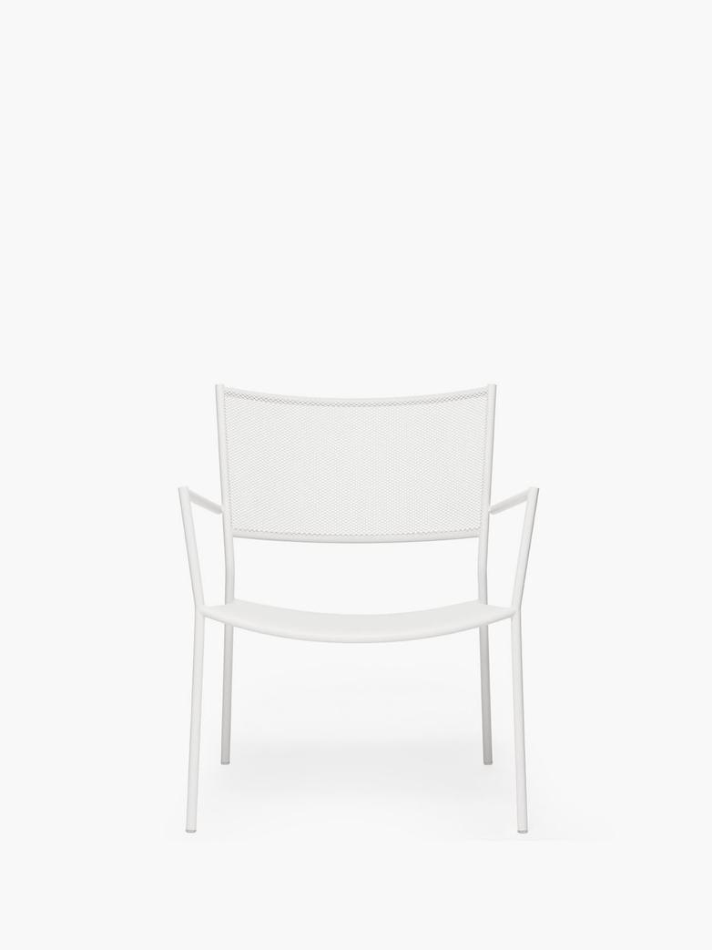Jig Mesh Easy Chair – White