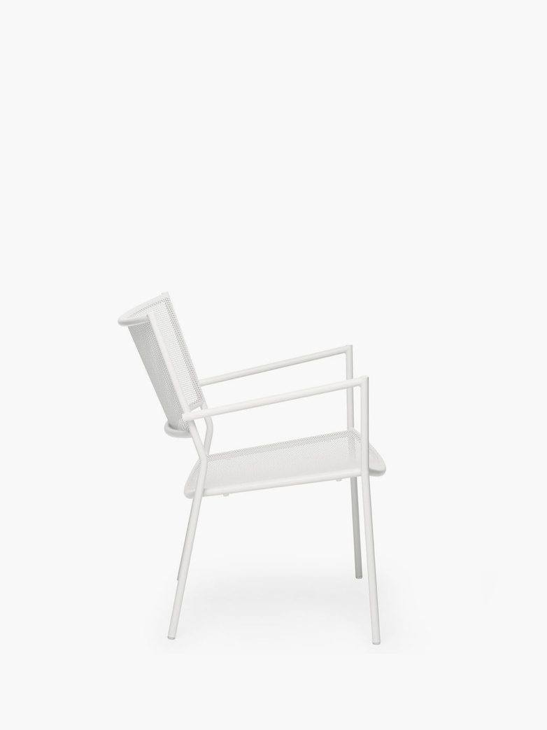 Jig Mesh Easy Chair – White