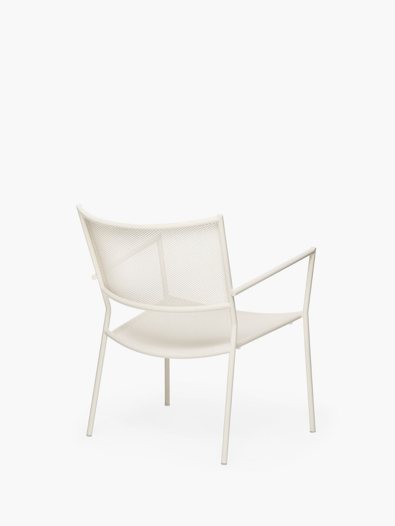 Jig Mesh Easy Chair – Ivory