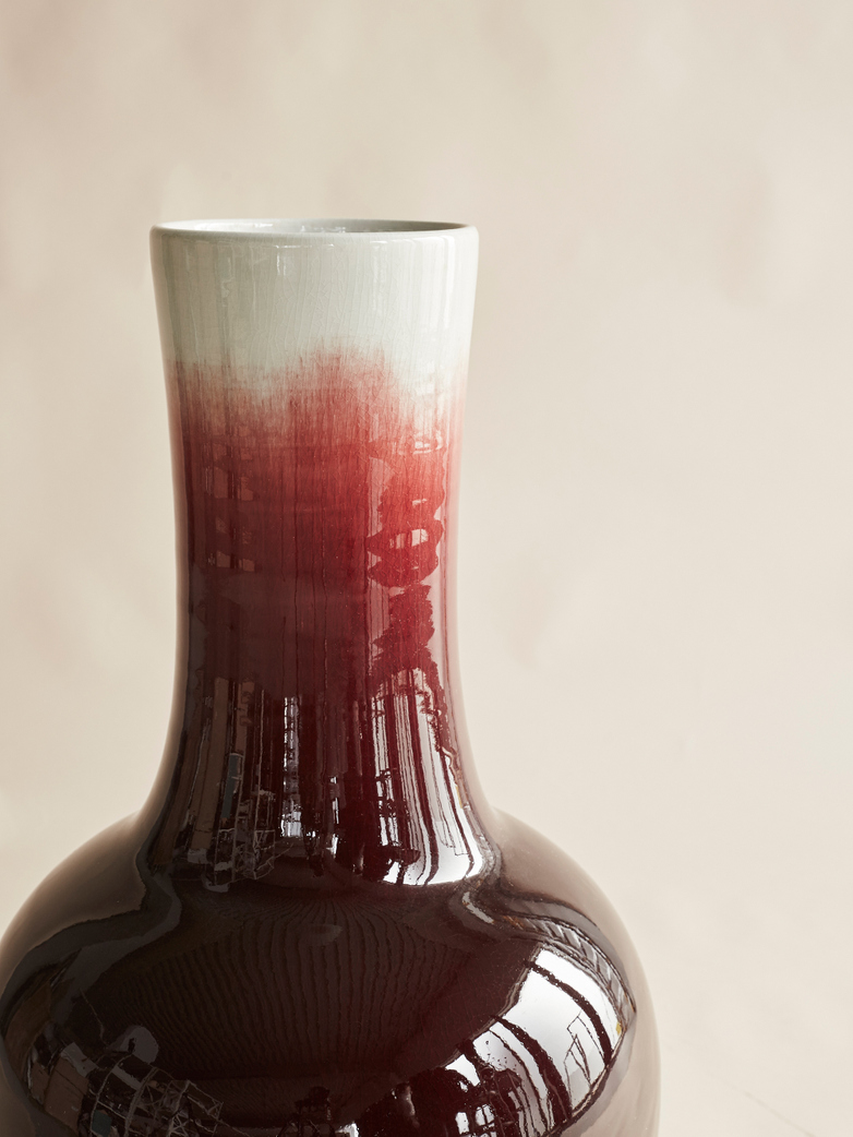 Straight Neck Vase Ox Blood