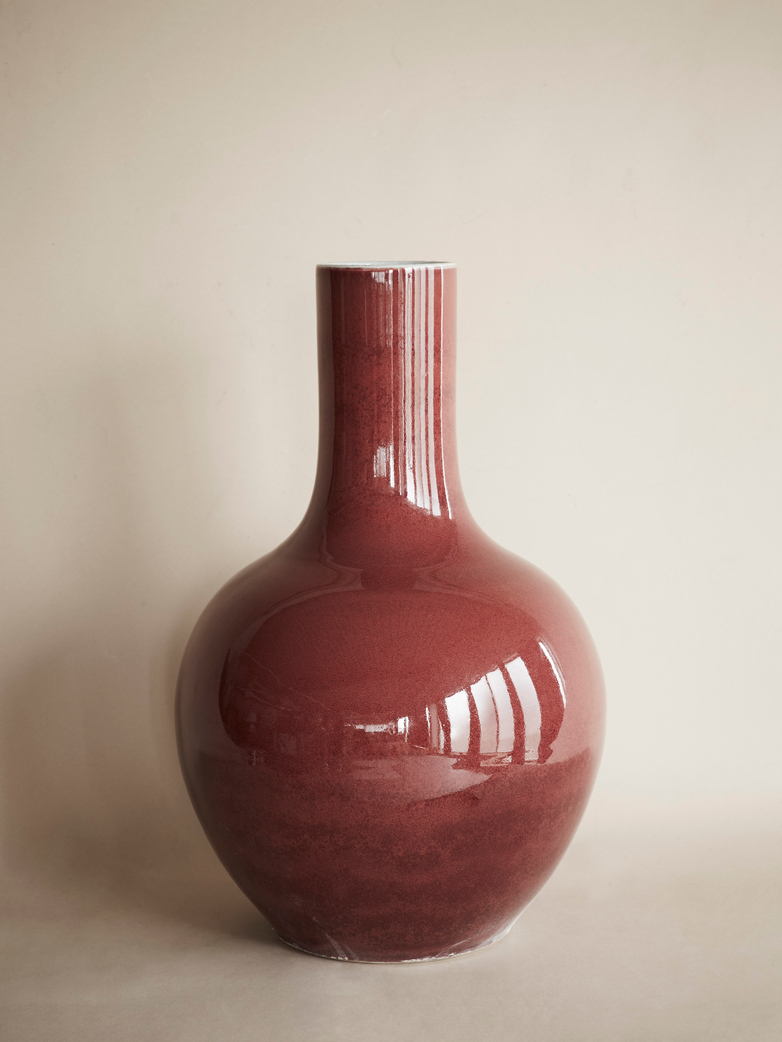 Ox Blood Sphere Vase