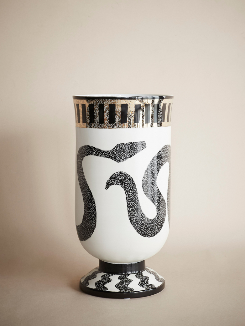 Snake Entwined Decorative Vase