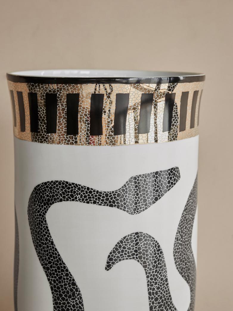 Snake Entwined Decorative Vase