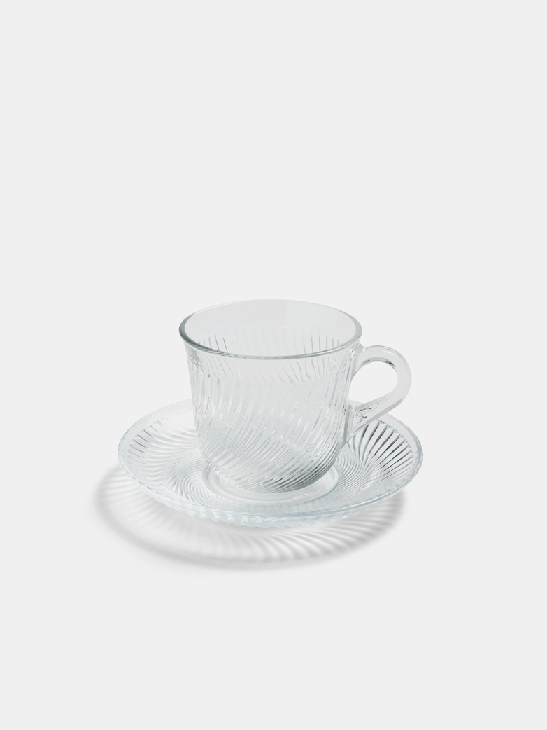 Pirouette Cup and Saucer 150 ml Clear