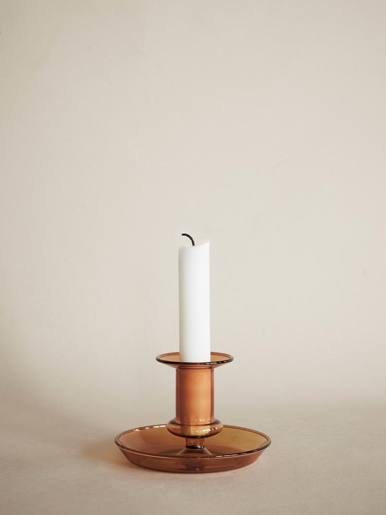 Flare Candleholder – Amber
