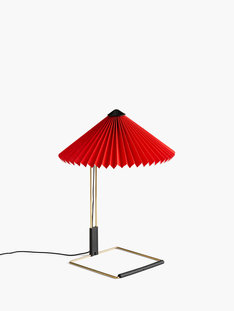 Matin Table Lamp – Bright Red – Small