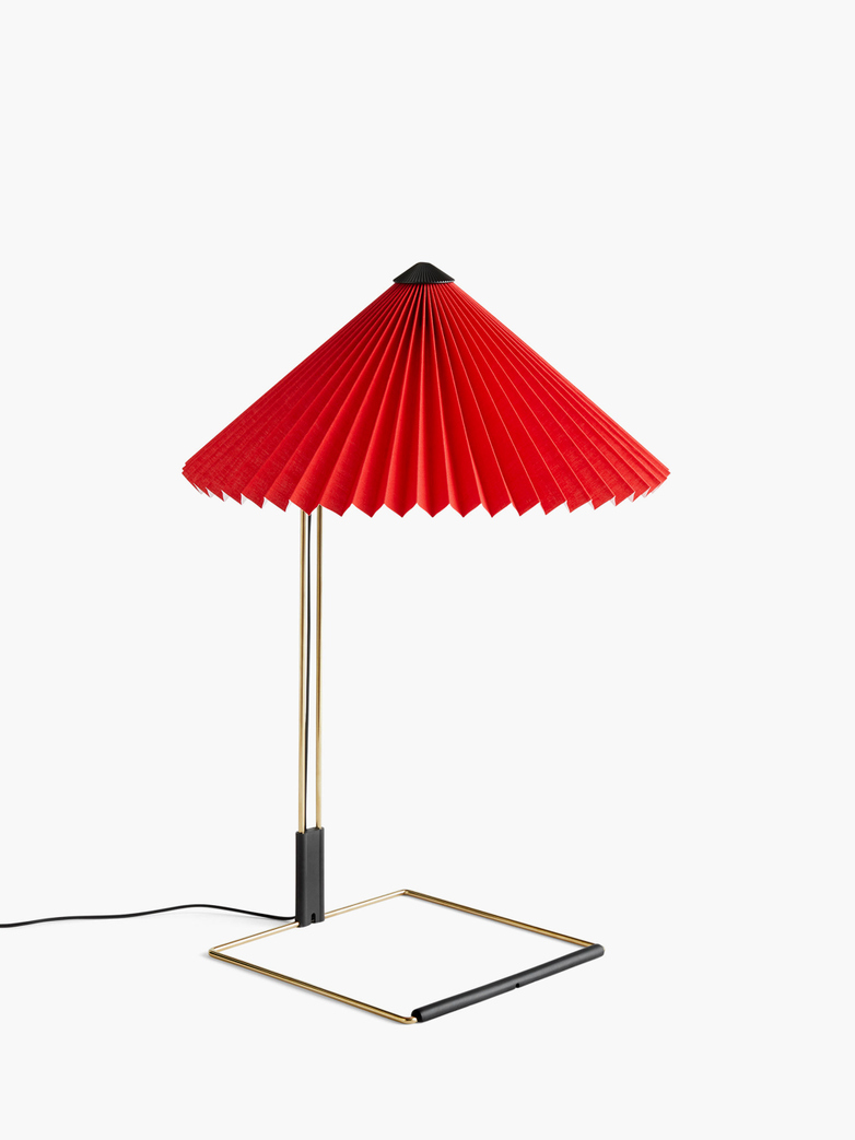 Matin Table Lamp – Bright Red – Large