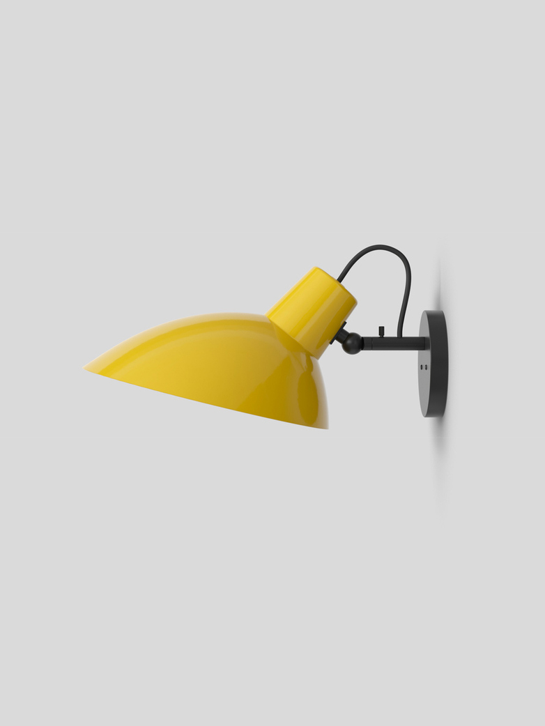 VV Cinquanta Wall Lamp – Black/Yellow