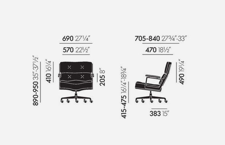 Lobby Chair ES 104 – Leather – Black