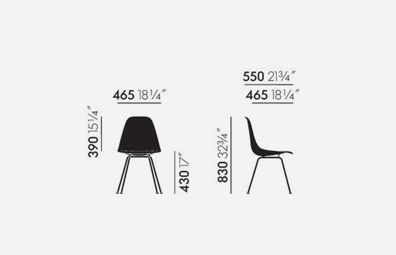 Eames Fiberglass Chairs – DSX – Chrome – Parchment