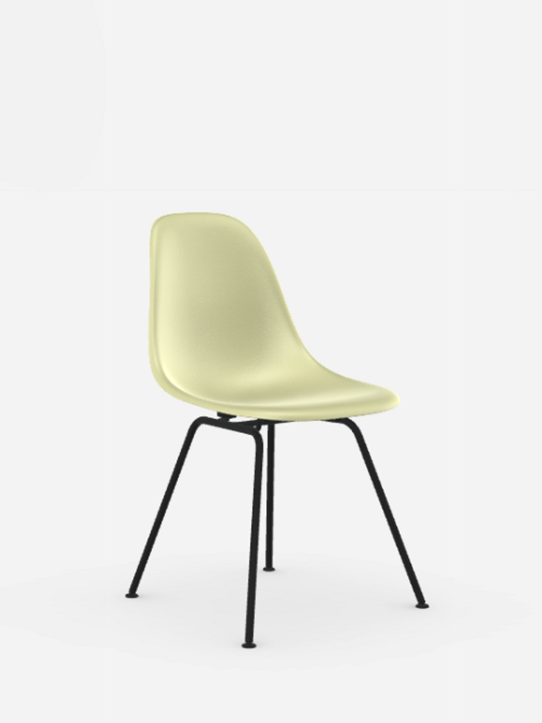 Eames Fiberglass Chairs – DSX – Powder Coated – Parchment