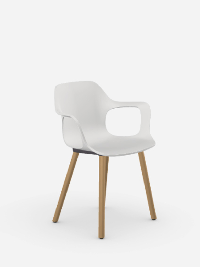HAL Armchair – Oak – White