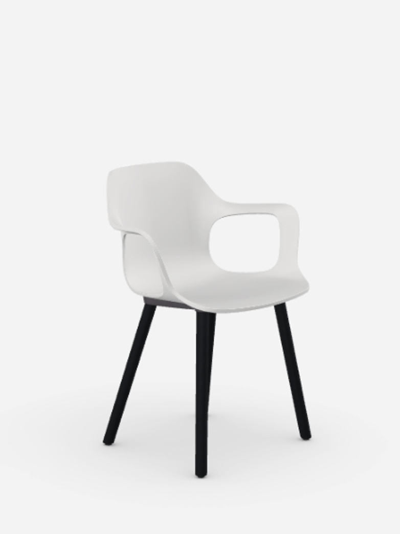 HAL Armchair – Dark Oak – White